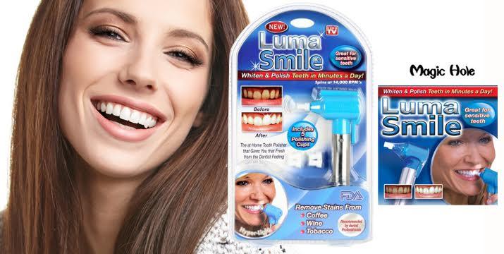 Μόνο 9,50€ από 16€ (-40%) για μία Συσκευή Λεύκανσης Δοντιών Luma Smile για να για κάνετε τα δόντια σας λευκότερα σε λιγότερο από 10', με εντυπωσιακό αποτέλεσμα και με παραλαβή από το κατάστημα MagicHole στο Παγκράτι και με δυνατότητα πανελλαδικής αποστολής.