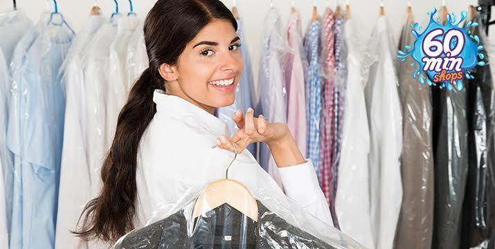 3,50€ για Καθάρισμα & Σιδέρωμα για Πουκάμισο, Πουλόβερ, Φόρεμα απλό, Παντελόνι, Φούστα και Σακάκι ή 4,50€ για Καθάρισμα & Σιδέρωμα για Μπουφάν, Ημίπαλτο, Καμπαρντίνα και Παλτό από τα 60 min shops σε Ηλιούπολη και Νίκαια με δυνατότητα παραλαβής και παράδοσης στο χώρο σας!! εικόνα