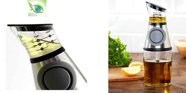 2,9€ από 13€ (-78%) για ένα Μπουκαλάκι με Μετρητή για λάδι & ξύδι Press & Measure, για να υπολογίζετε με ακρίβεια και χωρίς σπατάλη την ποσότητα που επιθυμείτε στο φαγητό σας, με παραλαβή ή δυνατότητα πανελλαδικής αποστολής στο χώρο σας από το Idea Hellas στη Νέα Ιωνία. εικόνα
