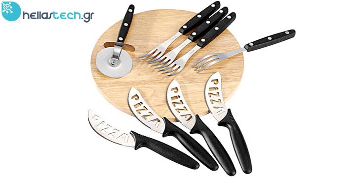 9,90€ από 23,90€ (-59%) για ένα Σετ Σερβιρίσματος Ξύλινος Δίσκος κοπής 4 ατόμων με αξεσουάρ-ειδικά μαχαίρια για Pizza, Τυριά και Αλλαντικά, με δυνατότητα παραλαβής από το κατάστημα ή πανελλαδικής αποστολής από την Hellas Tech στο Περιστέρι. εικόνα