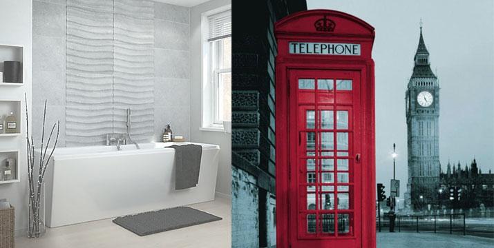 14,90€ από 19,90€ για μια Αδιάβροχη Υφασμάτινη Κουρτίνα Μπάνιου London Style, από την DoneDeals Goods με ΔΩΡΕΑΝ πανελλαδική αποστολή στο χώρο σας. εικόνα