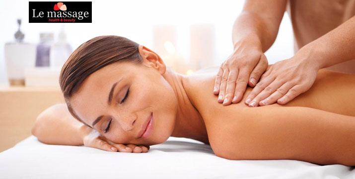 6€ απο 10€ (-40%) για ένα ολόσωμο Χαλαρωτικό Μασάζ διάρκειας 45' ή 12€ για μασάζ σε Ζευγάρι σε κοινό δωμάτιο, από το εξειδικευμένο κέντρο Le Massage στο Ελληνικό, πλησίον του σταθμού Μετρό Ελληνικό.