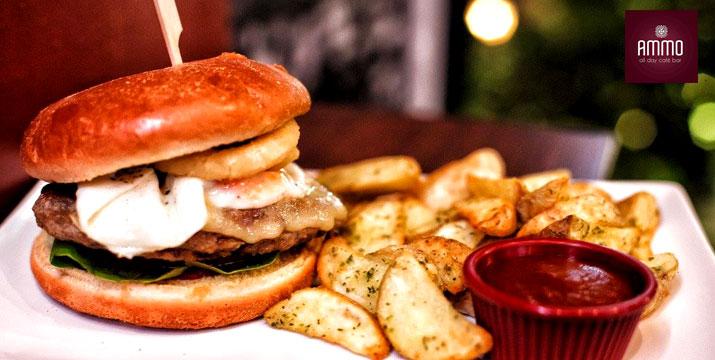 12,50€ από 25€ (-50%) για ένα Γεύμα για 2 Άτομα με ελεύθερη επιλογή από τον κατάλογο φαγητού και ποτών, στο Ammo All Day Cafe-Bar στη Γλυφάδα.