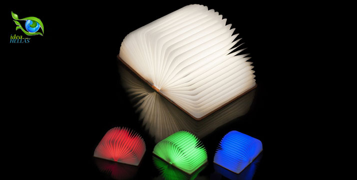 """16,50€ από 35€ (-54%) για ένα Φωτιστικό σε Σχήμα Βιβλίου, με καλύμματα που περιέχουν μαγνήτες επιτρέποντας του να ανοίξει σε 360 μοίρες και να τοποθετηθεί όπου επιθυμείτε, ενώ αλλάζει χρώμα κάθε φορά που το ανοίγετε, με παραλαβή ή δυνατότητα πανελλαδικής αποστολής στο χώρο σας από το """"Idea Hellas"""" στη Νέα Ιωνία. εικόνα"""