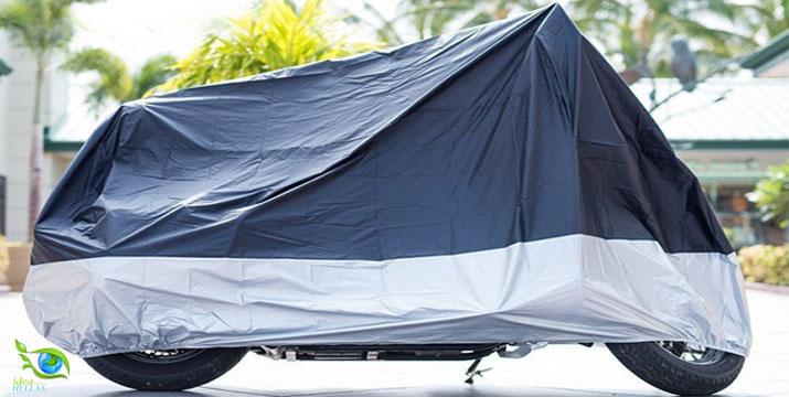 """12,90€ από 19,90€ για μια Αδιάβροχη Κουκούλα - Κάλυμμα Μηχανής, για αποτελεσματική προστασία από ήλιο, βροχή, υγρασία, σκόνη, χιόνι & ακαθαρσίες, ελαφριά, αντιανεμική και με πανεύκολη τοποθέτηση, με παραλαβή ή δυνατότητα πανελλαδικής αποστολής στο χώρο σας από το """"Idea Hellas"""" στη Νέα Ιωνία. εικόνα"""