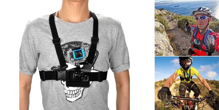14,90€ από 29,90€ (-50%) για μια Βάση στήθους με ελαστικούς ιμάντες για GoPro Κάμερα με ρυθμιζόμενο αντάπτορα στήριξης, από την DoneDeals Goods με ΔΩΡΕΑΝ πανελλαδική αποστολή στο χώρο σας.