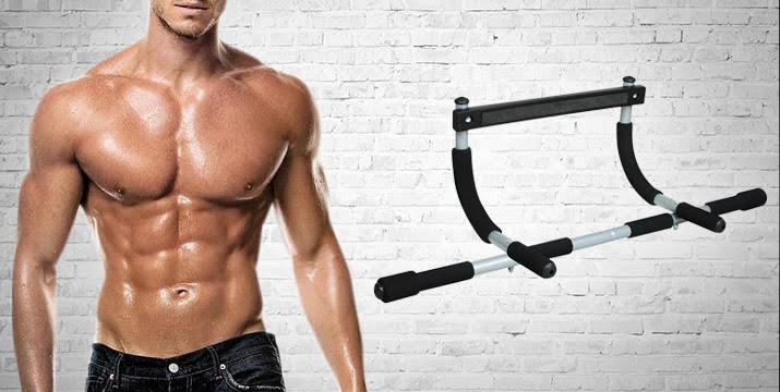 """9,9€ για ένα μονόζυγο πόρτας ''Iron Gym'', το σύστημα εκγύμνασης πολλαπλών χρήσεων που γυμνάζει και δυναμώνει τους μύες του στήθους, των χεριών, των ώμων, της πλάτης, τους κοιλιακούς μύες, και μετατρέπει οποιαδήποτε πόρτα στο δικό σας προσωπικό γυμναστήριο, με παραλαβή ή δυνατότητα πανελλαδικής αποστολής στο χώρο σας από το """"Idea Hellas"""" στη Νέα Ιωνία"""
