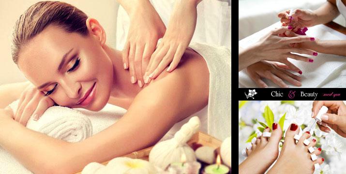 22€ από 70€ (-69%) για ένα Πακέτο Περιποίησης & Χαλάρωσης που περιλαμβάνει ένα (1) Ημιμόνιμο Manicure, ένα (1) Pedicure απλό και ένα (1) Χαλαρωτικό Μασάζ διάρκειας 30', στο Chic & Beauty στο Περιστέρι, πλησίον μετρό Αγ. Αντωνίου.