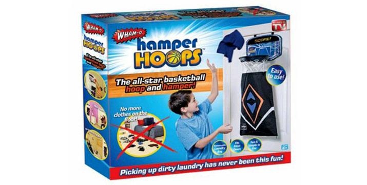 15,50€ από 22,90€ για μία Παιδική Μπασκέτα Hamper Hoops που λειτουργεί ως Καλάθι για τα Άπλυτα, μετατρέποντας την απαραίτητη αγγαρεία σε παιχνίδι για μικρούς και μεγάλους,  με παραλαβή ή δυνατότητα πανελλαδικής αποστολής στο χώρο σας από το Idea Hellas στη Νέα Ιωνία.