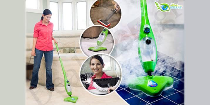 """44,9€ από 120€ (-63%) για μία εύχρηστη Σκούπα Ατμού με 5 διαφορετικές εκπληκτικές εφαρμογές: καθαρίζει το πάτωμα, τα χαλιά, πλένει τα παράθυρα, τα είδη υγιεινής καθώς και τα ρούχα σας, με παραλαβή ή δυνατότητα πανελλαδικής αποστολής στο χώρο σας από το """"Idea Hellas"""" στη Νέα Ιωνία. εικόνα"""