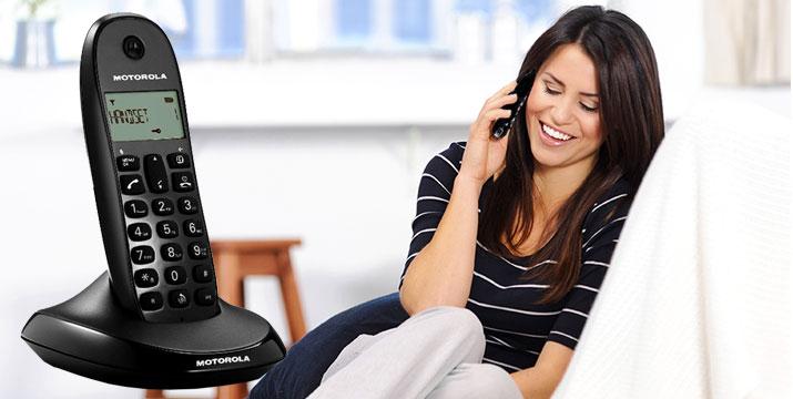 17,50€ από 27,50€ για ένα Ασύρματο Τηλέφωνο Motorolla C1001LB, με δυνατότητα παραλαβής και πανελλαδικής αποστολής στο χώρο σας από το ηλεκτρονικό κατάστημα του Pairno στη Θεσσαλονίκη. εικόνα