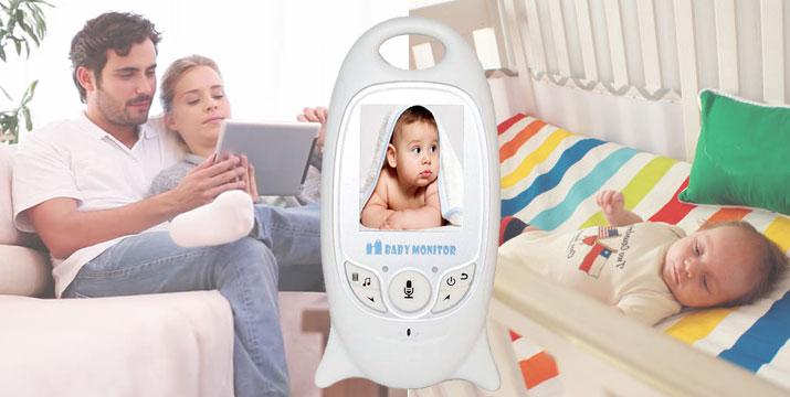 Ασύρματο Baby Monitor με νυχτερινή λήψη και ενδοεπικοινωνία και έγχρωμη οθόνη 2.0 ιντσών εικόνα