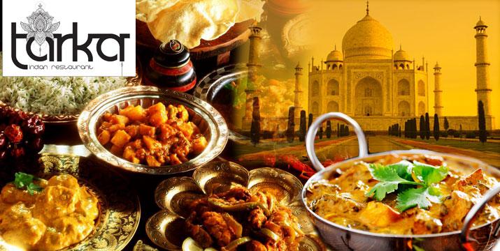 """14,90€ από 30€ (-50%) για ένα Γεύμα 2 ατόμων με ελεύθερη επιλογή από τον κατάλογο φαγητού, στο αυθεντικό Ινδικό εστιατόριο """"Tarka"""" στο Σύνταγμα."""