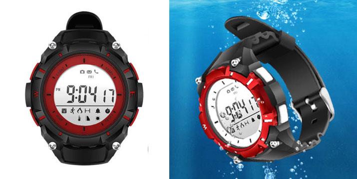 """35,50€ από 55,50€ για ένα Αδιάβροχο Ρολόι Smart Watch Bluetooth activity tracker Red, με παραλαβή ή δυνατότητα πανελλαδικής αποστολής στο χώρο σας από το """"Idea Hellas"""" στη Νέα Ιωνία. εικόνα"""