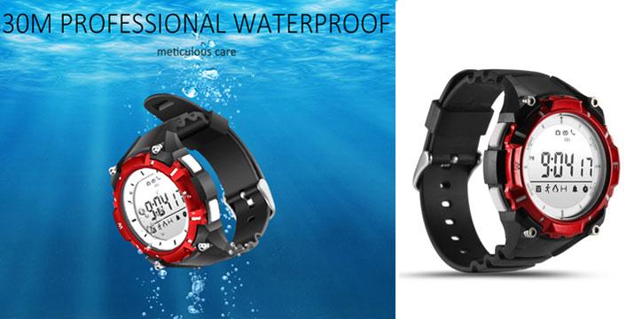 """35,50€ από 55,50€ για ένα Αδιάβροχο Ρολόι Smart Watch Bluetooth activity tracker Red, με παραλαβή ή δυνατότητα πανελλαδικής αποστολής στο χώρο σας από το """"Idea Hellas"""" στη Νέα Ιωνία."""