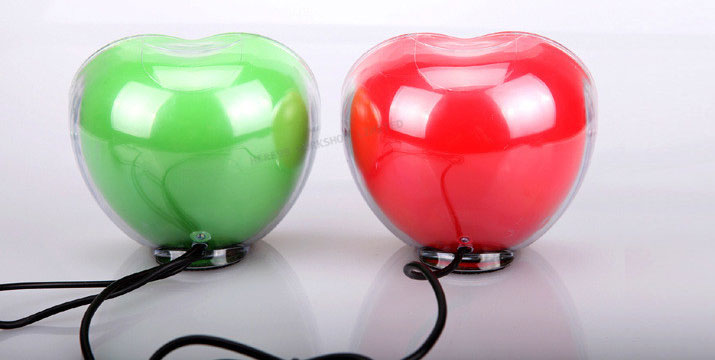 9,90€ από 19,90€ (-50%) για ένα Σετ 2 Ηχείων με USB σε σχήμα Μήλου που συνδέονται με όλες τις συσκευές και φωτίζουν με Led όταν είναι σε λειτουργία σε σχέδιο μήλο, με ΔΩΡΕΑΝ πανελλαδική αποστολή στο χώρο σας από την Best Sell.