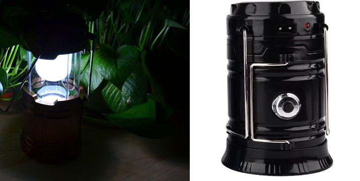 7,90€ από 15,90€ για ένα Φορητό Ηλιακό Φανάρι - Φακός LED για κάμπινγκ 300Lm, με δυνατότητα παραλαβής και πανελλαδικής αποστολής στο χώρο σας από την DoneDeals Goods.