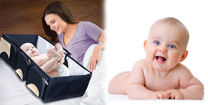 39,90€ από 74,90€ (-46%) για ένα Κρεβάτι Ταξιδιού για Μωρά & Τσάντα Αλλαξιέρα, από την DoneDeals Products με ΔΩΡΕΑΝ πανελλαδική αποστολή στο χώρο σας. εικόνα