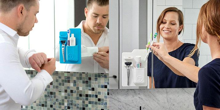 8,90€ από 14,90€ για ένα Organizer Μπάνιου για οδοντόβουρτσα, οδοντόκρεμα & ξυραφάκι, χωρίς κόλλες ή βεντούζες σε πράσινο χρώμα, με παραλαβή από το