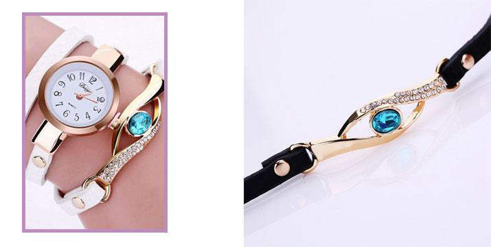 11,90€ από 18,90€ για ένα Γυναικείο Ρολόι Χειρός με Βραχιόλι και σχέδιο Μάτι σε διάφορα χρώματα, από την DoneDeals Goods με ΔΩΡΕΑΝ πανελλαδική αποστολή στο χώρο σας.