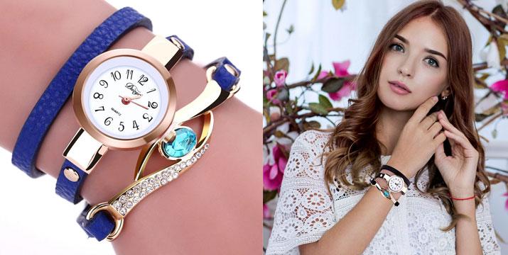 11,90€ από 18,90€ για ένα Γυναικείο Ρολόι Χειρός με Βραχιόλι και σχέδιο Μάτι σε διάφορα χρώματα, από την DoneDeals Goods με ΔΩΡΕΑΝ πανελλαδική αποστολή στο χώρο σας. εικόνα
