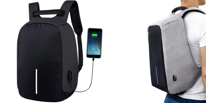 """22,90€ από 59,90€ (-62%) για ένα Αντικλεπτικό Σακίδιο Πλάτης με θύρα USB, με παραλαβή ή δυνατότητα πανελλαδικής αποστολής στο χώρο σας από το """"Idea Hellas"""" στη Νέα Ιωνία. εικόνα"""
