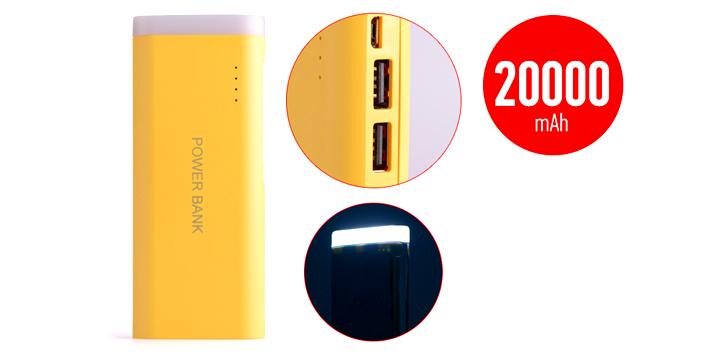21,90€ από 39,90€ (-45%) για ένα Power Bank 20000mAh με 2 θύρες USB και Φακό, από την DoneDeals Goods με ΔΩΡΕΑΝ πανελλαδική αποστολή στο χώρο σας. εικόνα