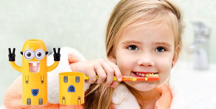 6,90€ από 12€ (-43%) για ένα Παιδικό Σετ Dispenser ΚΑΙ Θήκη για 2 οδοντόβουρτσες Minions, με παραλαβή από το Μagic Hole στo Παγκράτι και δυνατότητα πανελλαδικής αποστολής στο χώρο σας. εικόνα