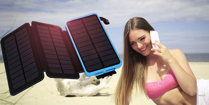 17,90€ από 29,90€ για ένα Hλιακό Power Bank 3.6w με 3 πάνελ για αυτόνομη φόρτιση απο τον ήλιο, χωρητικότητας 10000Mah, με παραλαβή από την Idea Hellas και δυνατότητα πανελλαδικής αποστολής στο χώρο σας. εικόνα