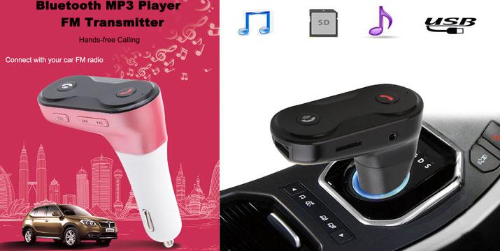 14,90€ από 19,90€ για ένα FM Transmitter με Bluetooth και είσοδο USB/SD/AUX σε τρία χρώματα, από την DoneDeals Goods με ΔΩΡΕΑΝ πανελλαδική αποστολή στο χώρο σας. εικόνα