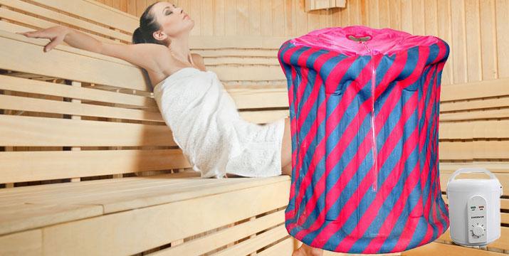 99,90€ από 124€ για μια Φορητή Σάουνα Ατμού με αδιάβροχη ολόσωμη καμπίνα, με παραλαβή από το