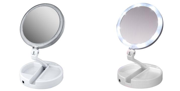 13,90€ από 19,90€ για έναν Αναδιπλούμενο Καθρέφτη Μακιγιάζ διπλής όψης με LED, με δυνατότητα παραλαβής και πανελλαδικής αποστολής στο χώρο σας από την DoneDeals Goods.
