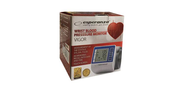 15,90€ από 19,90€ για ένα Ψηφιακό Πιεσόμετρο Καρπού  Esperanza Vigor, με δυνατότητα παραλαβής και πανελλαδικής αποστολής στο χώρο σας από την DoneDeals Goods.