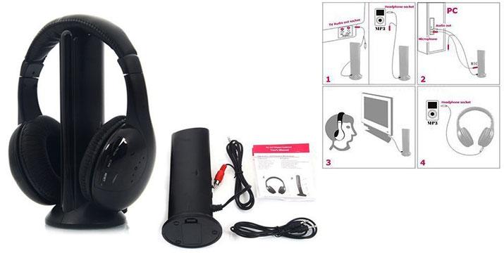 13,90€ από 24€ για ένα Σετ Ασύρματων Ακουστικών με 5 λειτουργίες - ασύρματη λήψη από κάθε συσκευή (τηλεόραση, PC, παιχνιδομηχανή κ.ά), chat, ασύρματη παρακολούθηση μωρών & ηλικιωμένων, ακρόαση ραδιοφώνου, με παραλαβή από το κατάστημα Magic Hole στο Παγκράτι και με δυνατότητα πανελλαδικής αποστολής.