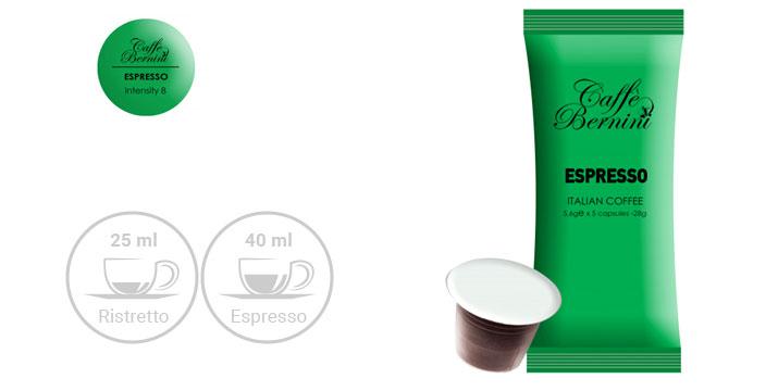 Από 12,90€ για Κάψουλες Bernini Caffe Espresso συμβατές με μηχανές Nespresso σε συσκευασία 50 ή 100 Τεμαχίων, με δυνατότητα παραλαβής και πανελλαδικής αποστολής στο χώρο σας από την DoneDeals Goods.