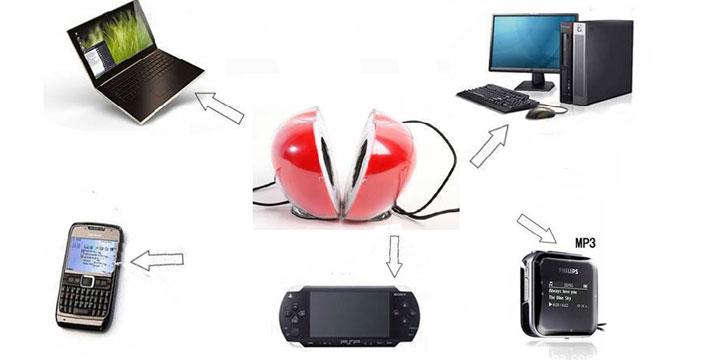 10,90€ από 19,90€ (-45%) για ένα Σετ 2 Ηχείων με USB σε σχήμα Μήλου που συνδέονται με όλες τις συσκευές και φωτίζουν με Led όταν είναι σε λειτουργία σε σχέδιο μήλο, με ΔΩΡΕΑΝ πανελλαδική αποστολή στο χώρο σας από την Best Sell.