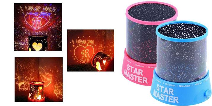 9,90€ από 14,90€ για ένα Φωτιστικό Δωματίου με Projector σε Μπλε και Ροζ χρώμα και σχέδιο έναστρου ουρανού, από την DoneDeals Goods με ΔΩΡΕΑΝ πανελλαδική αποστολή στο χώρο σας. εικόνα