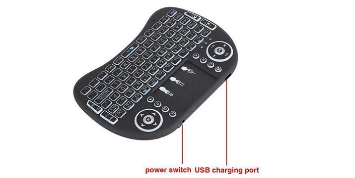 """16,90€ από 27,90€ για ένα Φωτιζόμενο Wireless Mini Πληκτρολόγιο Rii i8 για email, chat, παιχνίδια και χειρισμό του TV Box / Mini PC, με παραλαβή ή δυνατότητα πανελλαδικής αποστολής στο χώρο σας από το """"Idea Hellas"""" στη Νέα Ιωνία."""