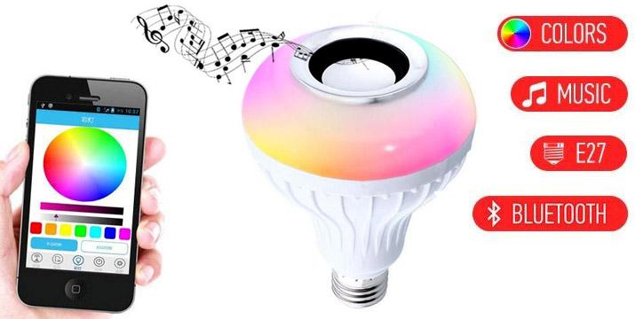 11,90€ από 19,90€ για μια LED Λάμπα E27 με εναλλασσόμενα χρώματα και Ηχείο με σύνδεση Bluetooth και χειριστήριο, με παραλαβή από το κατάστημα Magic Hole στο Παγκράτι και με δυνατότητα πανελλαδικής αποστολής.