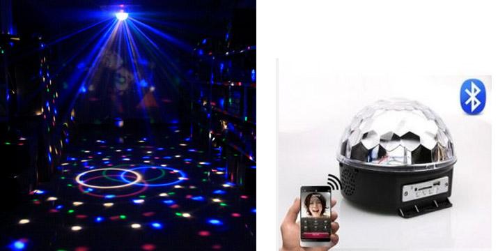 15,90€ από 35,90€ (-56%) για ένα Τηλεχειριζόμενο Φωτορυθμικό Bluetooth LED με USB Mp3 Player, με παραλαβή από το κατάστημα Magic Hole στο Παγκράτι και με δυνατότητα πανελλαδικής αποστολής.