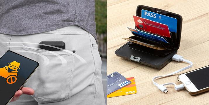 12,90€ από 19,90€ για ένα Πορτοφόλι Ασφαλείας για Κάρτες που διαθέτει και Power Bank για να φορτίζεται το κινητό σας οπουδήποτε και με 1 Χρόνο Εγγύηση, με δυνατότητα παραλαβής και πανελλαδικής αποστολής στο χώρο σας από την DoneDeals Goods. εικόνα