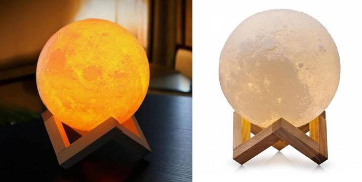 """19,90€ από 39,90€ (-50%) για μια 3D Ασύρματη Λάμπα σε Σχήμα Σελήνης, με παραλαβή ή δυνατότητα πανελλαδικής αποστολής στο χώρο σας από το """"Idea Hellas"""" στη Νέα Ιωνία."""