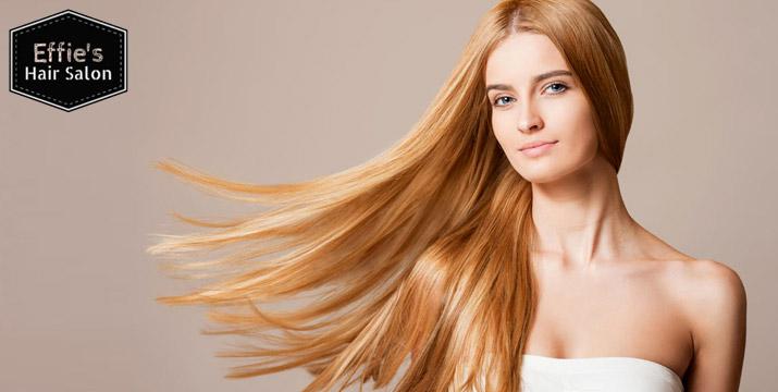 27€ από 80€ (-66%) για μία Ισιωτική Θεραπεία βιολογικής Brazilian Keratin χωρίς φορμαλδεΰδη για ίσια και μεταξένια μαλλιά διάρκειας έως και 4 μήνες, από το κομμωτήριο Effie's Hair Salon στη Δάφνη, πλησίον σταθμού Μετρό Άγιος Ιωάννης. εικόνα
