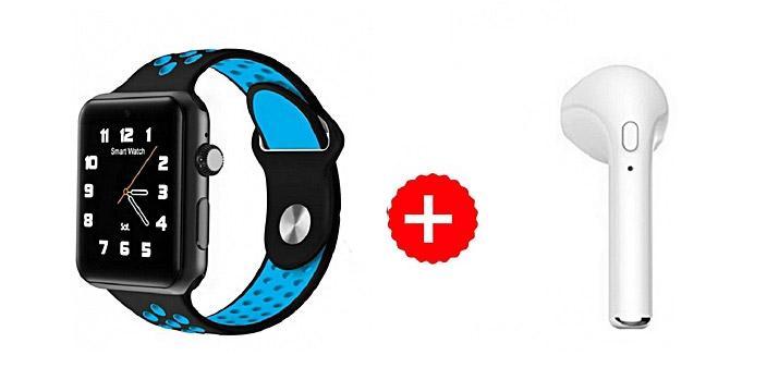 """35€ από 59€ για ένα Ρολόι Bluetooth Smart Watch M3 IOS Android και ΔΩΡΟ Ακουστικό Handsfree και 1 Χρόνο Εγγύηση, με παραλαβή ή δυνατότητα πανελλαδικής αποστολής στο χώρο σας από το """"Idea Hellas"""" στη Νέα Ιωνία. εικόνα"""