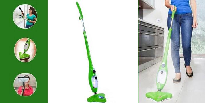 """39,90€ από 120€ (-67%) για μία εύχρηστη Σκούπα Ατμού με 5 διαφορετικές εκπληκτικές εφαρμογές: καθαρίζει το πάτωμα, τα χαλιά, πλένει τα παράθυρα, τα είδη υγιεινής καθώς και τα ρούχα σας, με παραλαβή ή δυνατότητα πανελλαδικής αποστολής στο χώρο σας από το """"Idea Hellas"""" στη Νέα Ιωνία. εικόνα"""