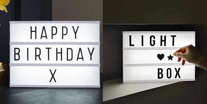 11,90€ από 29,90€ (-60%) για έναν Διακοσμητικό Φωτιζόμενο Πίνακα LED A4 με 100 γράμματα