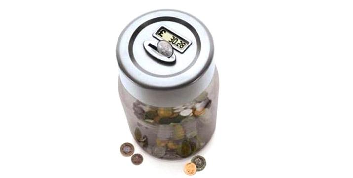 """5,50€ από 9,50€ για έναν Κουμπαρά - Καταμετρητή Κερμάτων Ευρώ με LCD ψηφιακή οθόνη που εμφανίζει το σύνολο των κερμάτων που τοποθετείτε, με παραλαβή ή δυνατότητα πανελλαδικής αποστολής στο χώρο σας από το """"Idea Hellas"""" στη Νέα Ιωνία."""