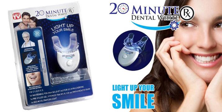 13,90€ από 24,90€ για ένα Σύστημα λεύκανσης δοντιών με φως LED