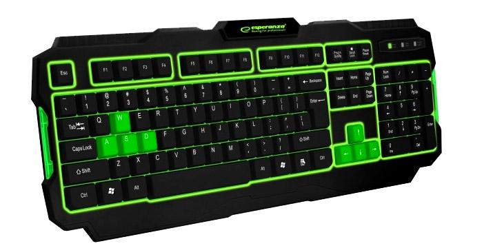 12,90€ από 19,90€ για ένα Ενσύρματο Πληκτρολόγιο USB Esperanza Shadow με οπίσθιο φωτισμό LED σε πράσινο ή κόκκινο χρώμα με 2 Χρόνια Εγγύηση καλής λειτουργίας, με δυνατότητα παραλαβής και πανελλαδικής αποστολής στο χώρο σας από την DoneDeals Goods.