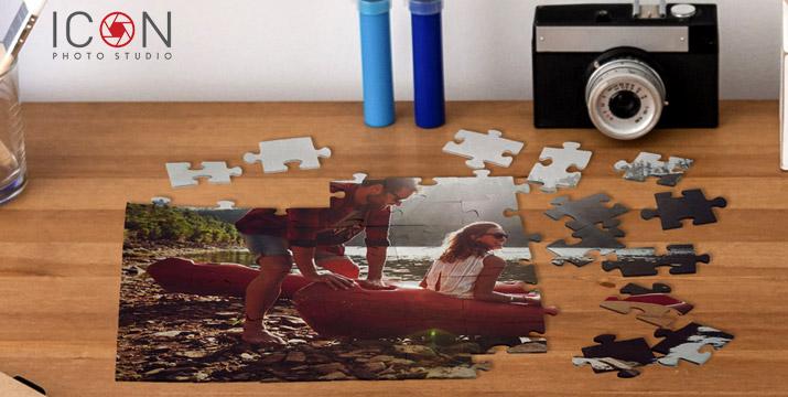 Από 6,90€ για ένα Παζλ με όποια φωτογραφία επιθυμείτε σε διαστάσεις Α5 ή Α4, με δυνατότητα παραλαβής και πανελλαδική αποστολή στο χώρο σας από το ηλεκτρονικό κατάστημα του Icon Photo Studio στη Θεσσαλονίκη.